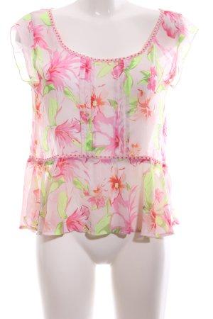 Hollister Transparenz-Bluse Blumenmuster Casual-Look