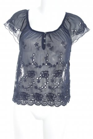 Hollister Transparenz-Bluse blau Beach-Look