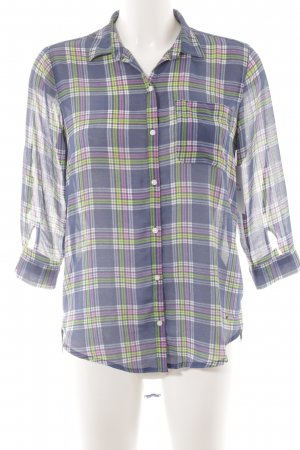 Hollister Transparante blouse geruite print casual uitstraling