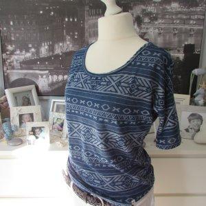 HOLLISTER * Traum Sommer Shirt * dunkelblau INKA-Style * S=36/38