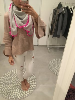 Hollister Tuch Schal grau pink Loop Winter Accessoires Mode Blogger Fashion