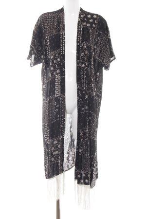 Hollister Tunic black-cream Aztec pattern casual look