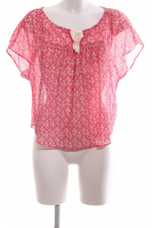 Hollister Tunikabluse rot-weiß Allover-Druck Casual-Look