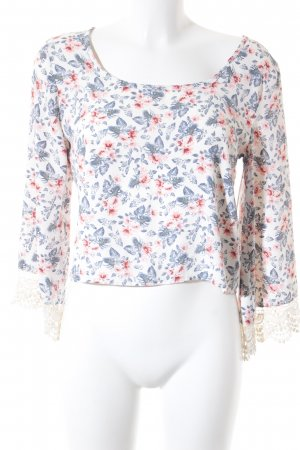 Hollister Tunikabluse Blumenmuster Casual-Look