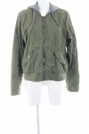 Hollister Between-Seasons Jacket green grey-khaki casual look