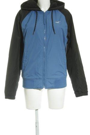 Hollister Übergangsjacke schwarz-blau Casual-Look