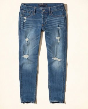 Hollister Ultra Low Rise Slim Boyfriend-Jeans Gr. 3