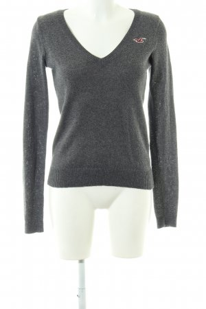 92835084656 Hollister V-Neck Sweater light grey casual look