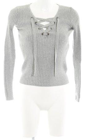 Hollister V-Ausschnitt-Pullover grau Casual-Look