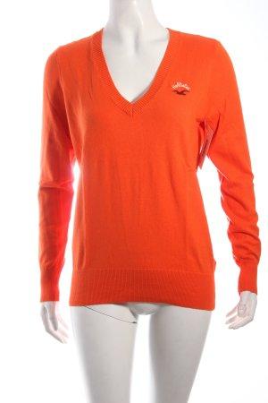 Hollister V-Ausschnitt-Pullover orange klassischer Stil