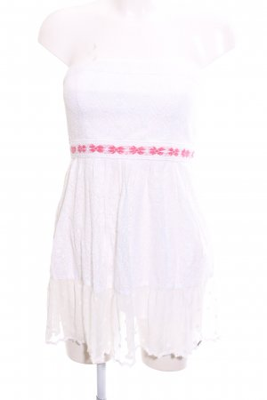Hollister Flounce Top white-pink elegant