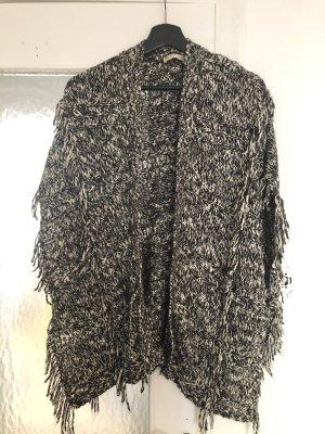 Hollister Gilet tricoté noir-blanc