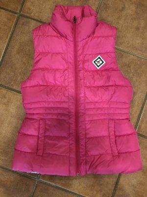 Hollister Quilted Gilet pink-magenta