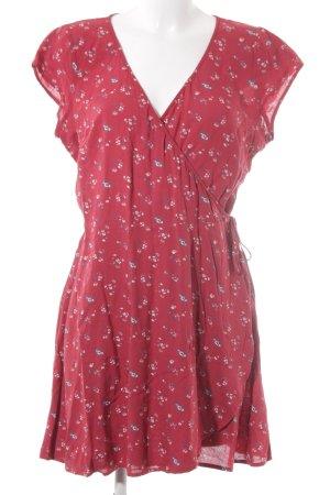 Hollister Robe portefeuille rouge brique motif floral style romantique