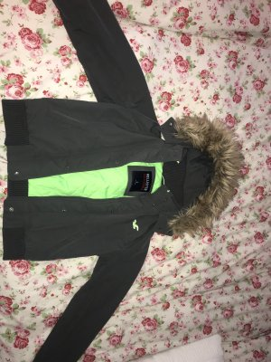 Hollister Raincoat anthracite-meadow green