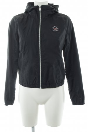Hollister Windbreaker dark blue-white athletic style