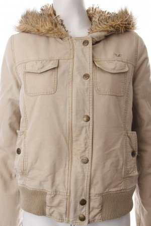 Hollister Winterjacke beige Logo-Applikation