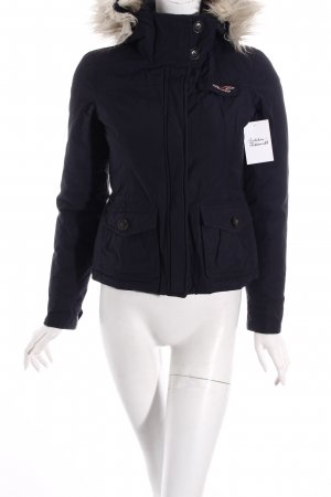Hollister Winterjacke dunkelblau Casual-Look