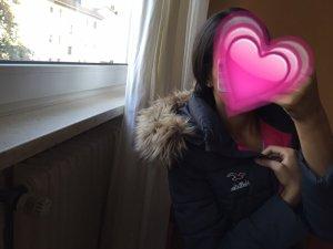 Hollister Winterjacke Grau Pink Pelz