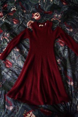 Hollister Vestido de lana burdeos