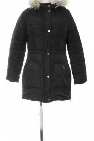 Hollister Winter Coat black quilting pattern casual look