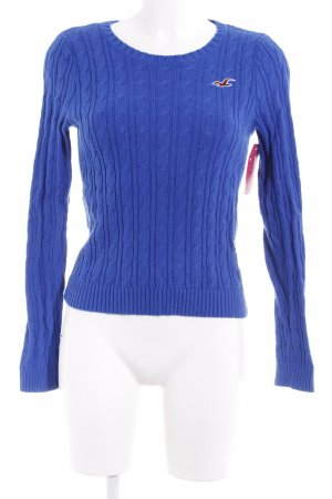 Hollister Cable Sweater blue cable stitch casual look