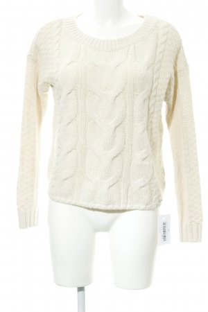 Hollister Cable Sweater oatmeal cable stitch casual look