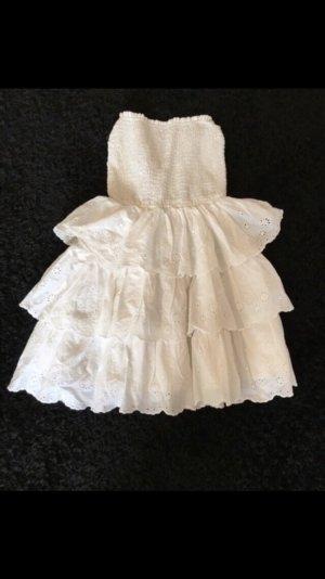 Hollister Vestido bandeau blanco