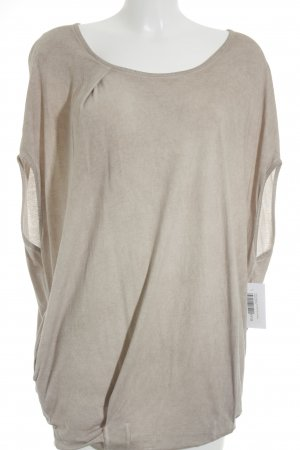 Holly Golightly ärmellose Bluse beige klassischer Stil
