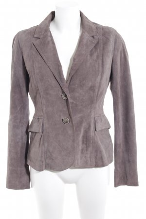 Holly Golightly Leder-Blazer graubraun Business-Look