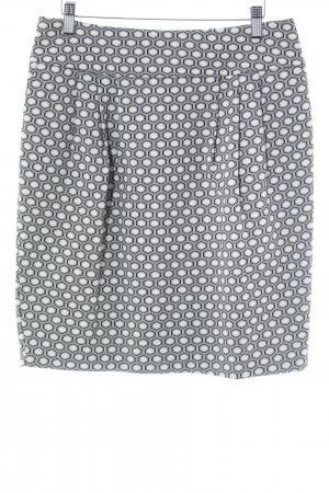 Holly Golightly Minirock wollweiß-schwarz grafisches Muster Elegant