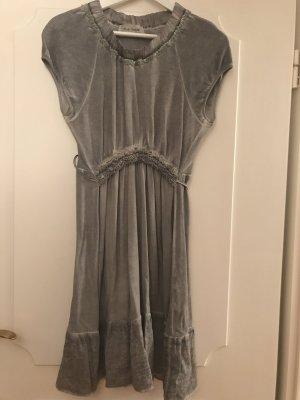 Holly Golightly Volante jurk lichtgrijs-grijs