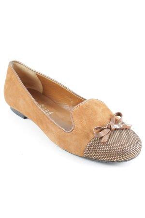 Holly Wood Bailarinas con tacón con punta abierta marrón claro look casual