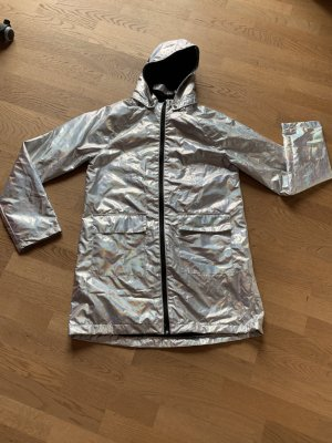 Raincoat silver-colored-light grey polyester