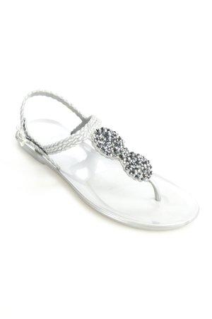 Holster Zehen-Sandaletten silberfarben Elegant