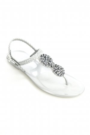 Holster High-Heeled Toe-Post Sandals silver-colored elegant