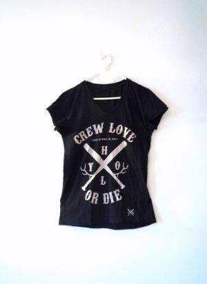 *HolyHoly* Crew Love or Die, schwarzes TShirt mit beige großen Logo