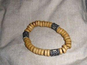 Bracelet noir-marron clair