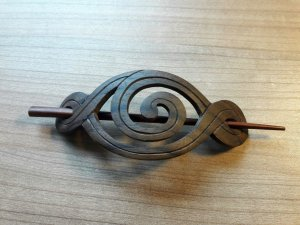 Holz, Natur Haarspange
