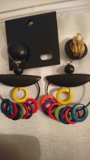 Pendientes de clip multicolor