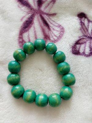 Holz Perlen Kette türkis mint grün *NEU*