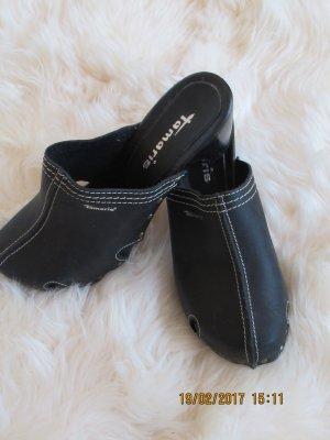 Tamaris Heel Pantolettes black mixture fibre