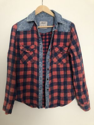Denim Co. Lumberjack Shirt steel blue-dark red