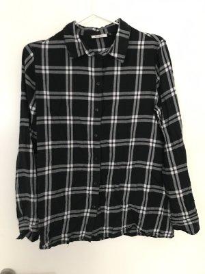 Only Camisa de leñador blanco-negro