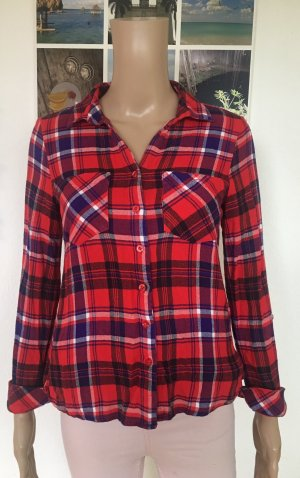 Street One Lumberjack Shirt dark red-blue