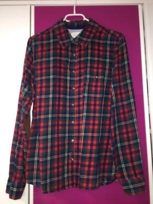 H&M Camicia da boscaiolo rosso scuro-verde scuro