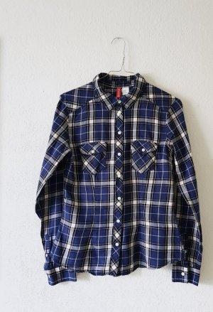 Holzfällerhemd blau