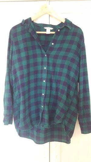 Holzfällerhemd blau-grün kariert