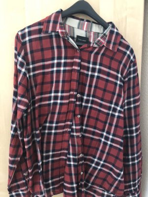 Zara Lumberjack Shirt white-bordeaux