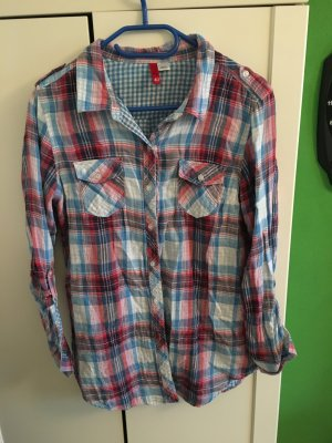 Holzfällerhemd in den Farben blau/weiß/rot